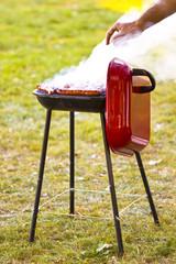 Merguez grillées au barbecue