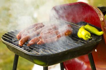 Barbecue de Merguez grillées