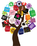 vector shopping tree