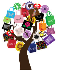 vector shopping tree