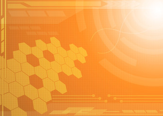 Abstract technology orange background.