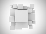 Fototapety 3d white abstract background