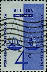 Workmen's compensation law. Wisconsin. US Postage.