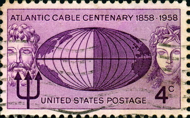 Atlantic Cable Centenary. 1858-1958. US Postage.