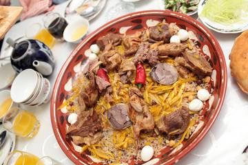 National uzbek dish pilau