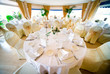 Wedding interior with table and chairs