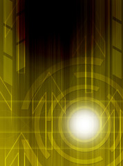 Abstract technology yellow background.