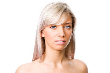 Blond woman face