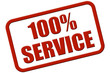 Stempel rot rel 100% SERVICE