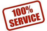 Stempel rot rel 100% SERVICE