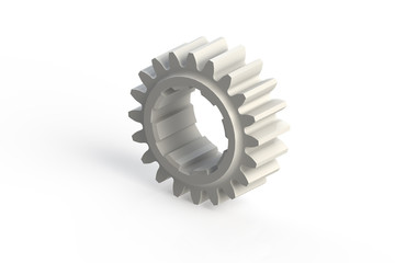White single sprocket (3D computer generated gear)
