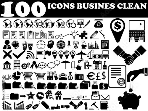 100 ICONS BUSINES CLEAN