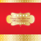 New Year and Merry Christmas greeting card