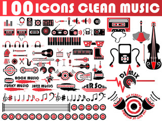 100 ICONS CLEAN MUSIC