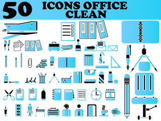 50 ICONS OFFICE CLEAN