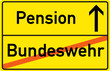Schild Pension Bundeswehr