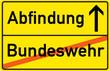 Schild Abfindund Bundeswehr