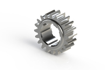 Metal single sprocket (3D computer generated gear)
