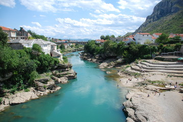 View at Mostar, Bosnia and Herzegovina