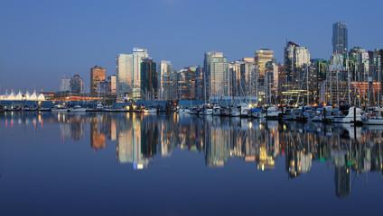 Vancouver Canada evening cityscape