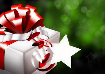 Geschenk mit Sternlabel