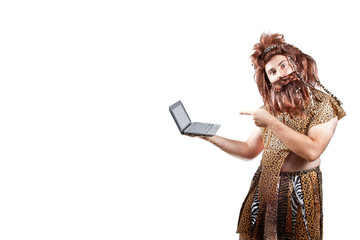 Caveman with a laptop (3).