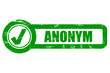 Checkbox grün grung ANONYM