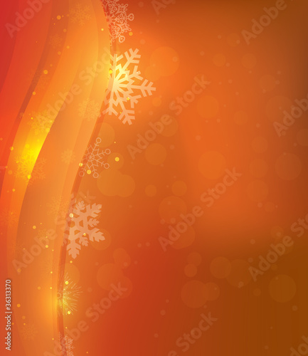 Orange Christmas Card