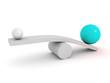 Balance concept. leadership advantage