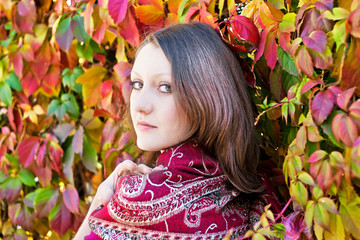 beauty autumn portrait