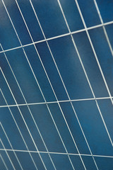 A photo of a nice solar panel texture at Science Museum of Valen