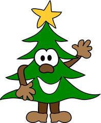 Comic Weihmachtsbaum