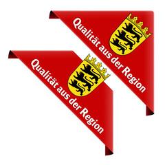 qualität aus der region baden-württemberg ecke button