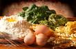 Pasta all'uovo e spinaci