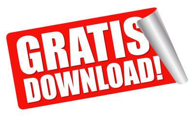 roter Aufkleber - GRATIS download