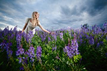 Lady in a field