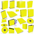 Yellow 3d blank cover collection