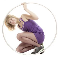 Portrait of girl with hula hoop