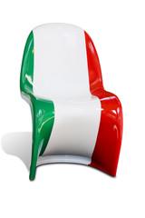 Sedia design con bandiera italiana