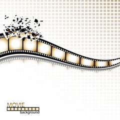Filmstrip explosion background. Vector illustration.