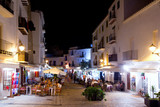 Ibiza dalt vila nightlife under night lights poster