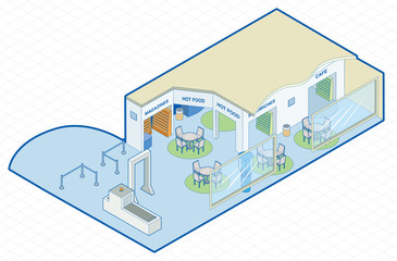 Airport Shop Isometric
