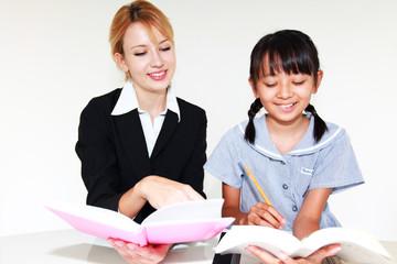 英会話教室に通う少女