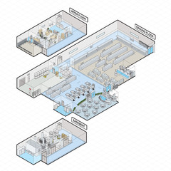 Supermarket Shopping Mall isometric