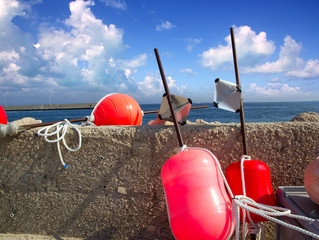 Longliner fisherboat buoy tackle Formentera