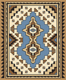 Geometric Ornamental Carpet Design
