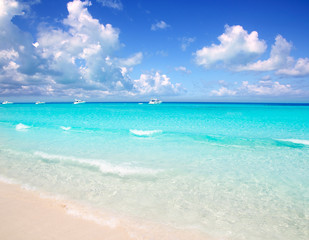 Illetes Formentera East beach tropical turquoise