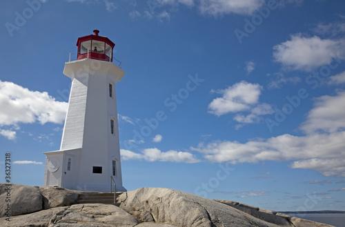 Fotobehang Vuurtoren / Mill Peggys Cove Lighthouse