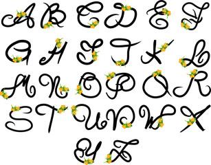 alfabeto - fiori