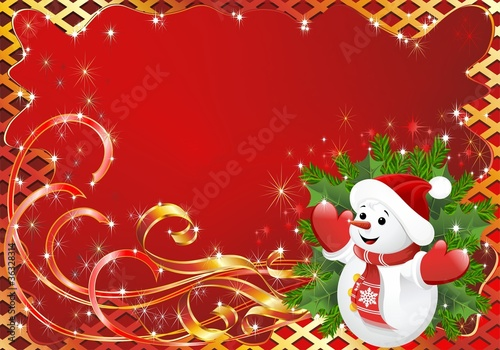 Natale Cartolina Auguri-Christmas Greeting Card-Vector-2